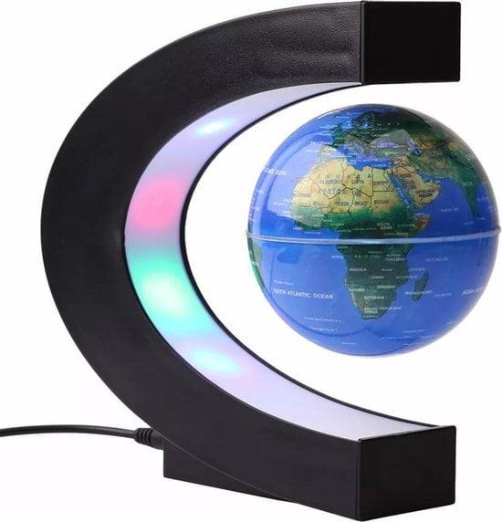 Zwevende wereldbol met LED verlichting