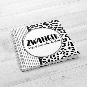 Zwangerschapsinvulboek sillbeads mijn 9 maanden invulboek zwart wit