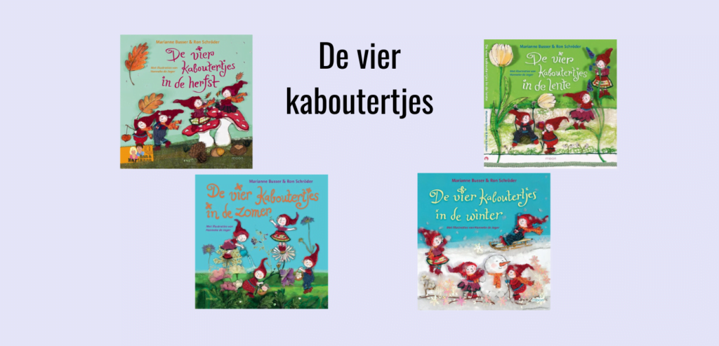 De vier kabouters in de lente, zomer, herfst en winter; Prentenboeken over de seizoenen voor kinderen van 4-8 jaar oud.