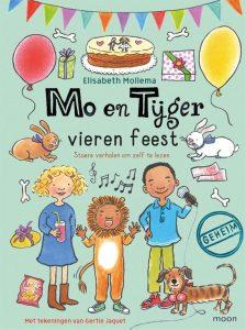 Mo en Tijger vieren feest, Elisabeth Mollema. Zelf leren lezen van avi-niveau E3 naar avi-niveau E5